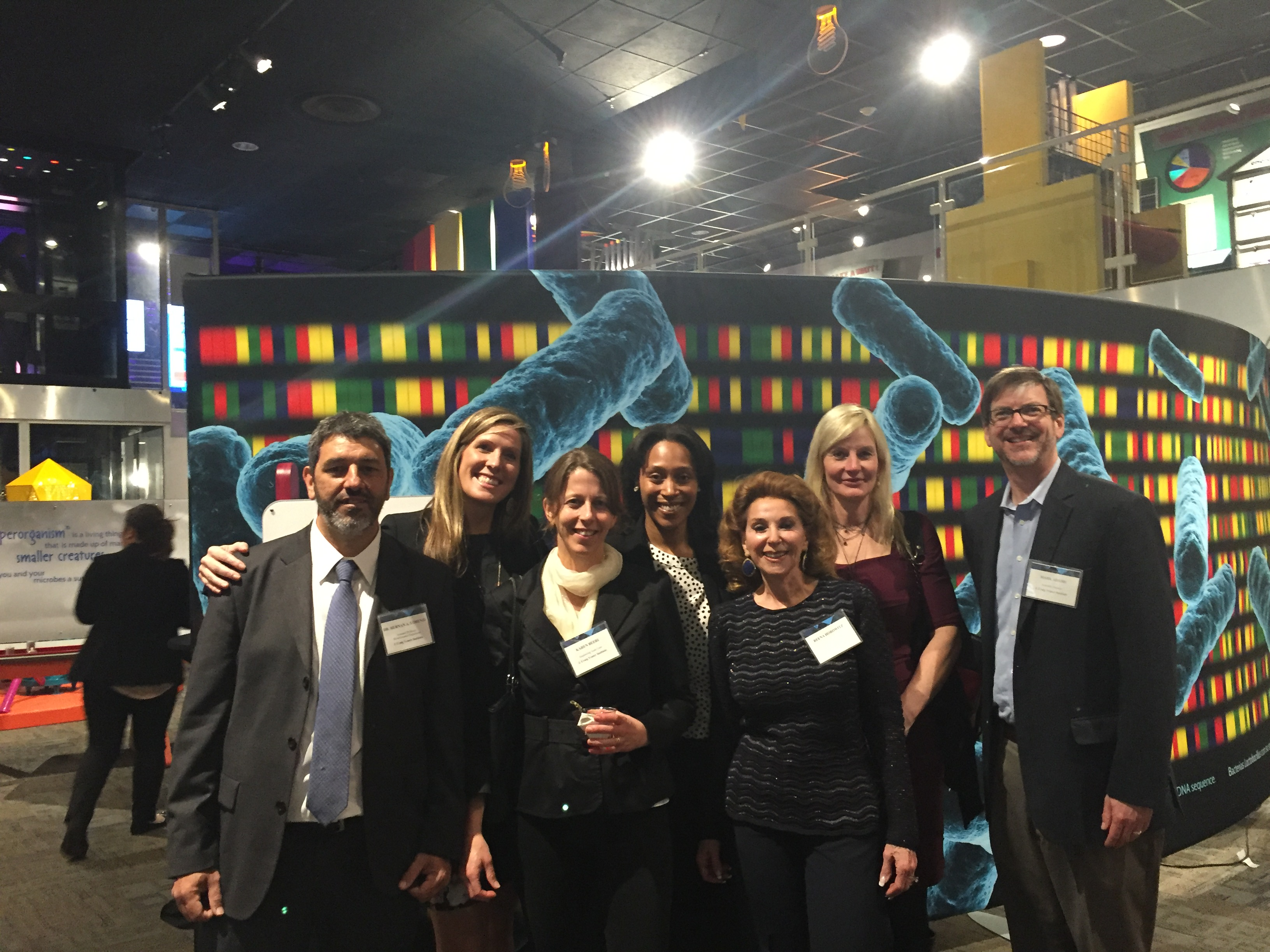 JCVI staff and friends came out to support the event (from left to right): Hernan Lorenzi, Katie Collins, Karen Beeri, Amani Rushing, CEO Council Member Reena Horowitz, Nicole Deberg, Mark Adams.
