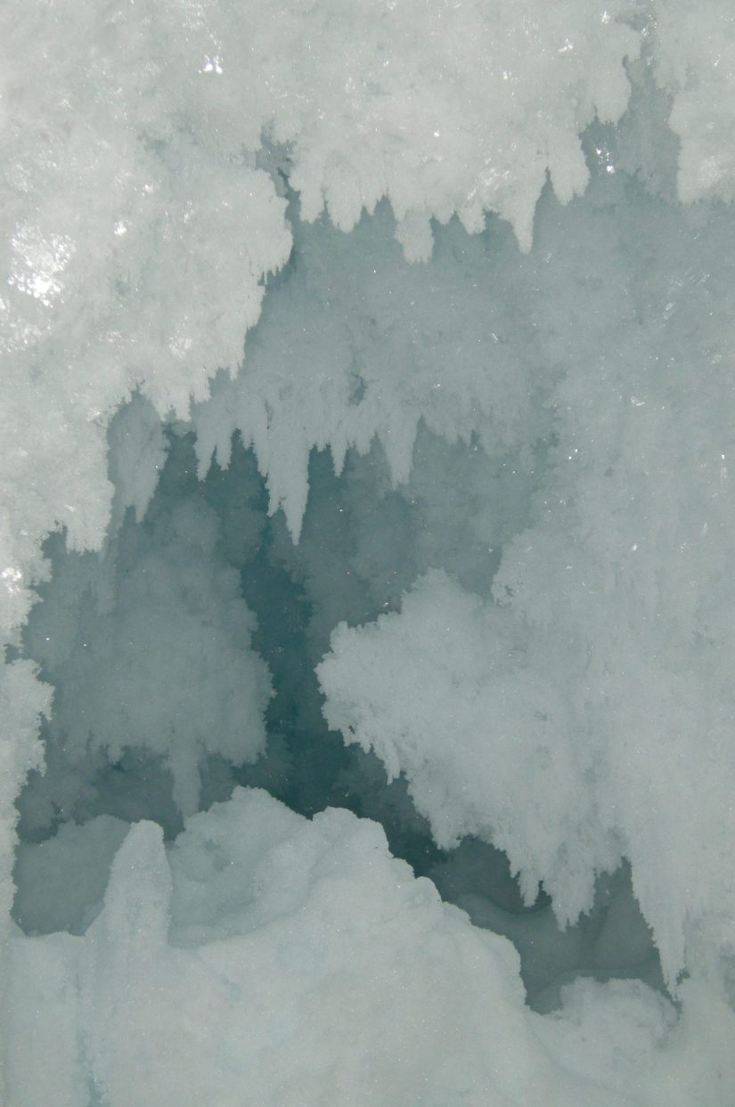 A room full of diamonds inside the Erebus Glacier