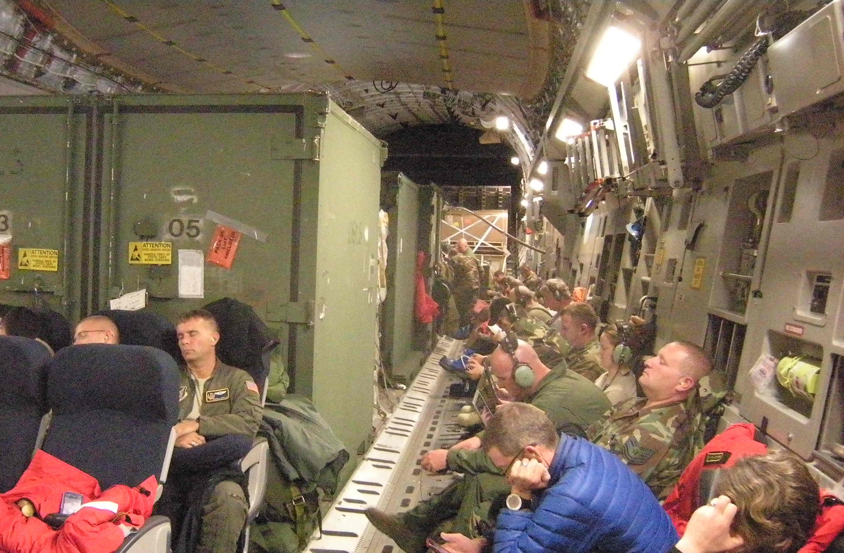 Stripped down interior of the C-17