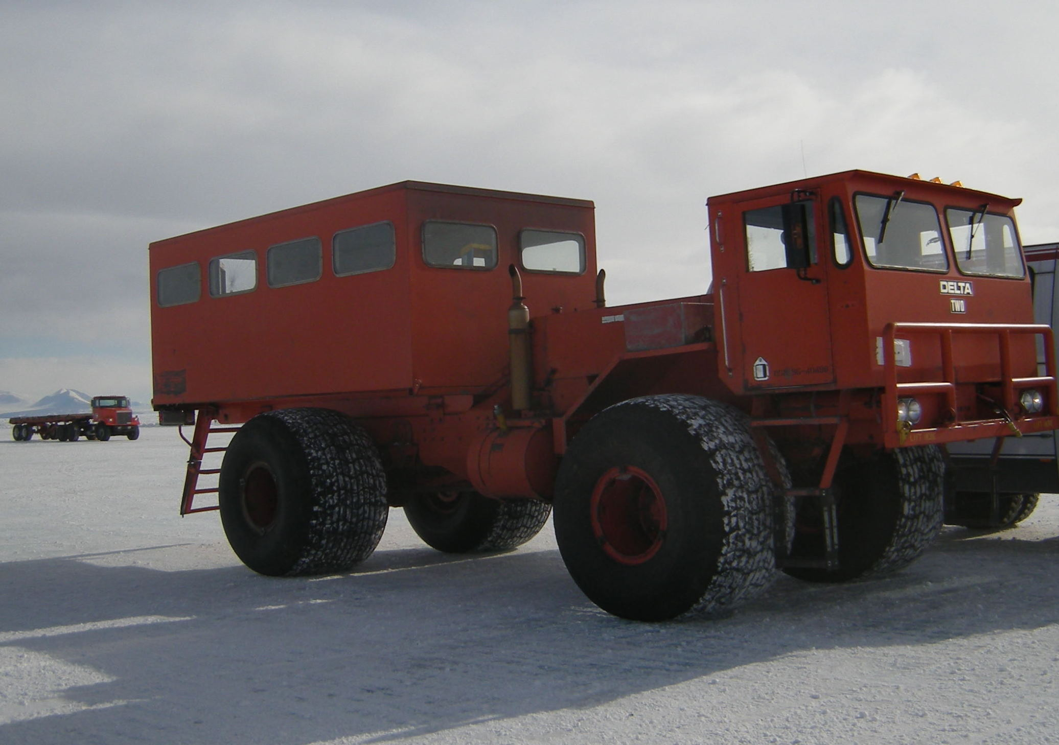 The Delta: large tire transport to McMurdo