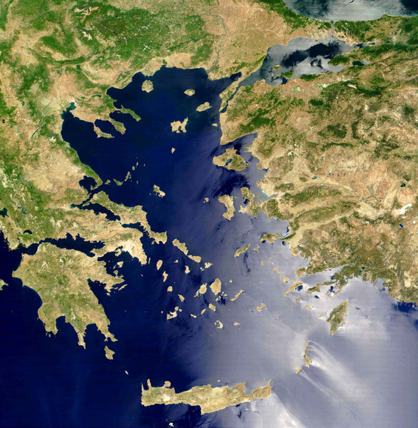 Satellite Imagery of Aegean and Black Sea