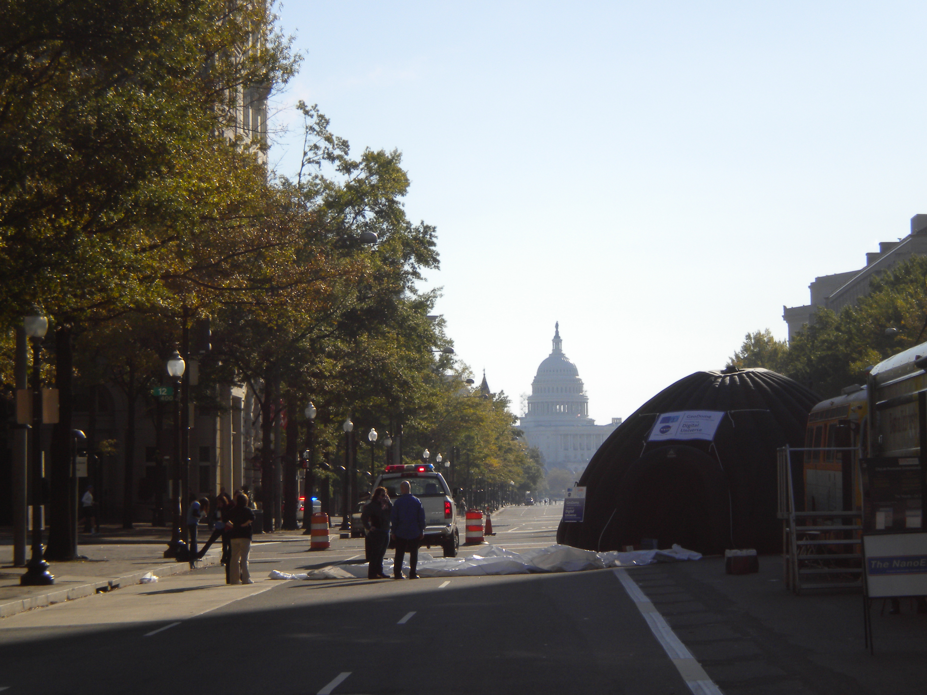Looking down Pennsylvania Avenue - the Capital!